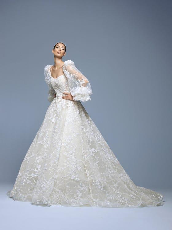 parte delantera vestido novia princesa tul chandler